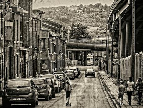 rue où tout est mélangé