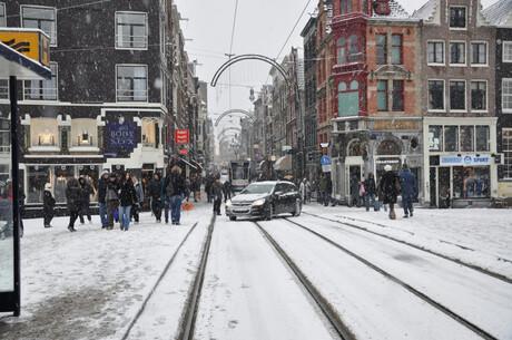 winter in de stad