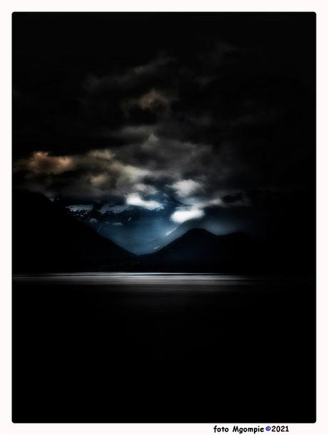 Fjord at night