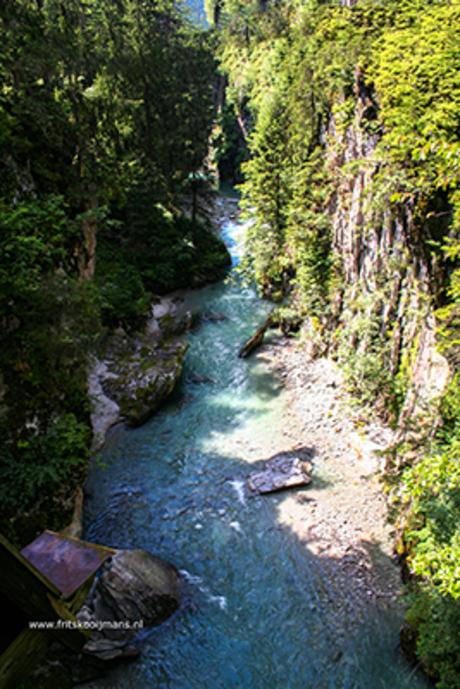 Rivierbedding achter Mayrhofen