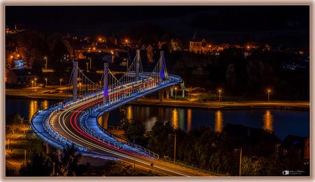 Verlichte brug in Kanne (België)
