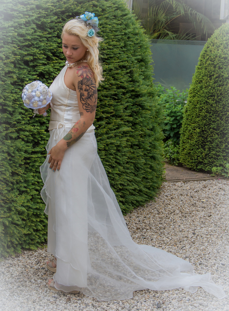 Beautiful Bride in White