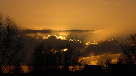 zonsondergang, december 2008