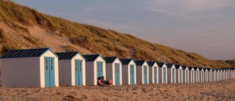 Strandhuisjes op de Koog