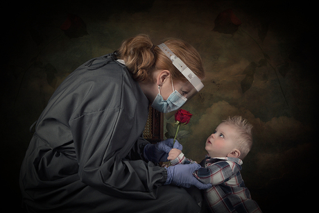 This little boy also needs his mom to be safe