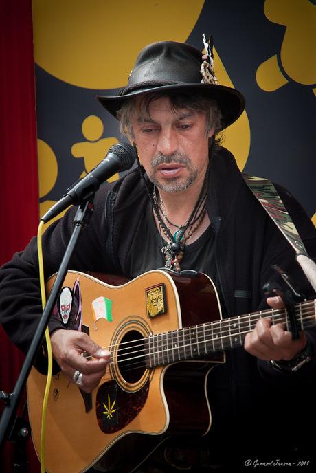 Straatmuzikant in Dublin