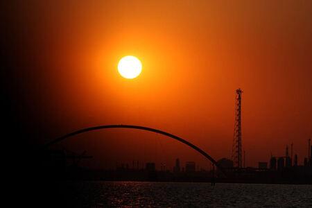 zonsondergang - - - foto door ardbodewes op 10-08-2008 - deze foto bevat: kleur, zon, natuur, venetie, fel, italie, ondergang