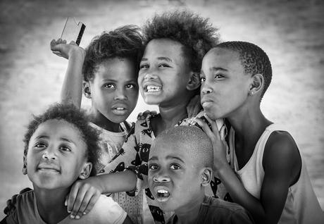 Curious black kids