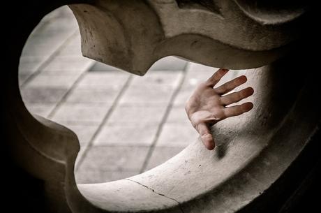 De hand...