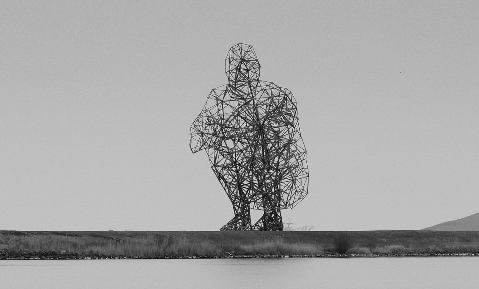 Archie - De man van staal - foto door pietsnoeier op 02-04-2021 - deze foto bevat: man, staal, architectuur, kunst, markermeer