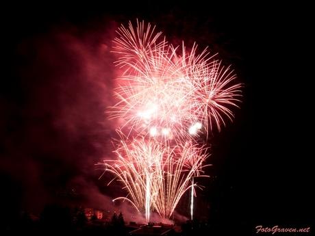 Vuurwerk Cran/Montana Zwitserland