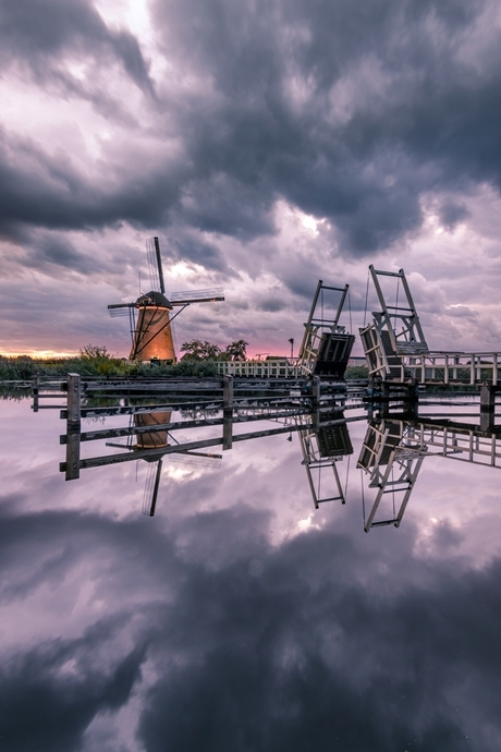 Cloudy windmill