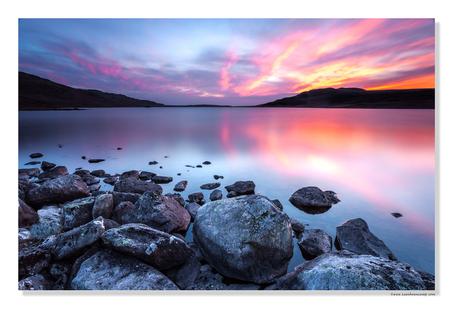 Zonsondergang Lake District