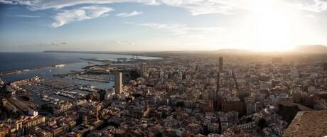 Skyline over Alicante