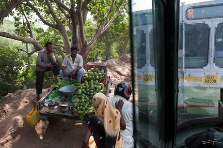 Mango verkoper langst de straatkant
