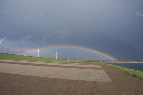 Hoe laag kan een regenboog zijn?