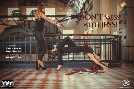 Don't Mess With Jess! - Starring: Jessica Weich / Sanne Jacobs  Photographer: Sakin Ozturk  For more photo's check also: https://www.facebook.com/sakinphotography/ - foto door sakin op 29-12-2015 - deze foto bevat: bewerkt, fantasie, vintage, rook, bewerking, trappen, moord, film, girl, contrast, photoshop, pistool, bloed, schieten, creatief, vloer, sexy, agressie, manipulatie, bokeh, movie, lightroom, filmscene, bewerkingsopdracht, bewerkingsuitdaging, levitation, bloedopvloer