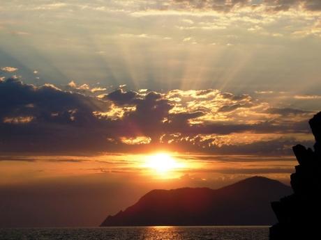 Zonsondergang Riomaggiorre Italie