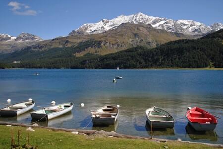 Silvaplanameer Zwitserland - 3 Weken op vakantie geweest in Tenero aan het Lago Maggiore. Verschillende bergpassen gereden. - foto door FemmieKoekoek op 02-10-2015