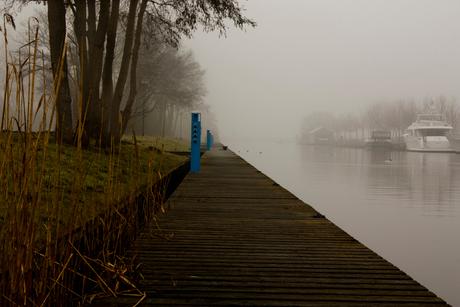 Steiger in de mist