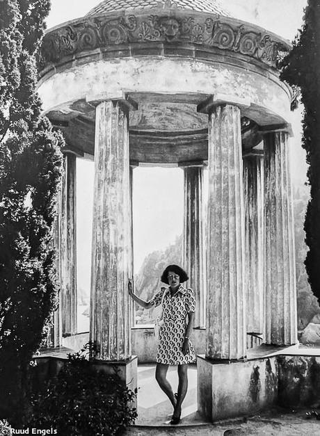 In de botanische tuin Lloret de Mar 1973.