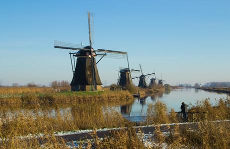 Fotograaf in Kinderdijk