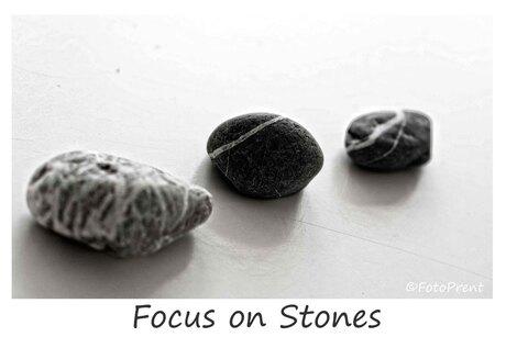 focus on stones