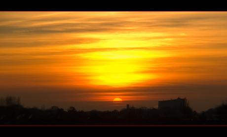 Groothoekige zon