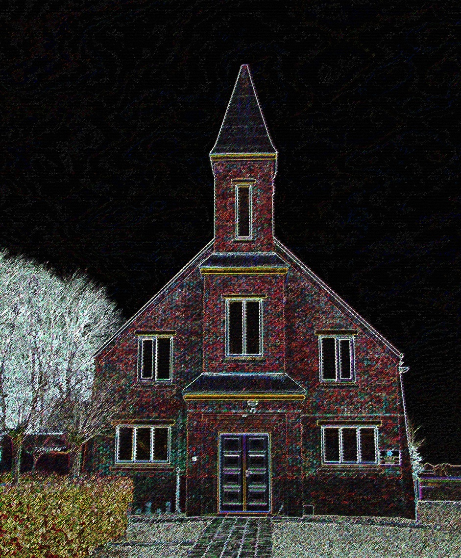 Protestanste gemeente te Weite (gem Vlagtwedde) - In kader van foto`s maken in Vlagtwedde (fotoclub) Deze heb ik bewerkt. - foto door g_zoom op 29-01-2012 - deze foto bevat: kerk