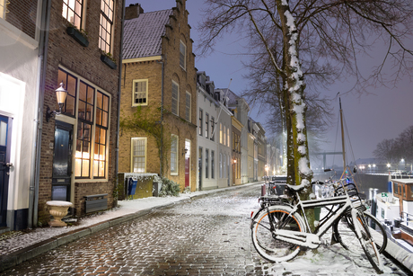 Natte sneeuw in Nederland