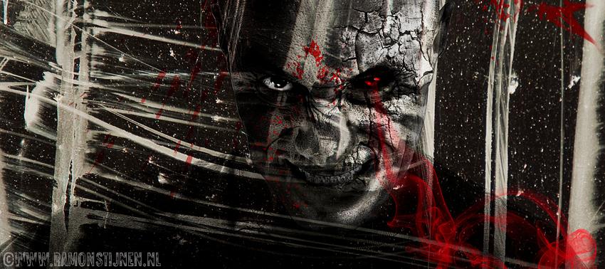 Dark Art - Dark Art werkstuk van n zelfportret. - foto door eyefocus-76 op 21-11-2012 - deze foto bevat: donker, kunst, horror, demoon, duister, kwaad, dark art, demonisch
