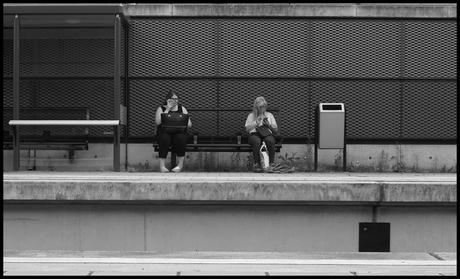 Ja ik ben wat later....het is zo vreselijk druk op het station....!!!