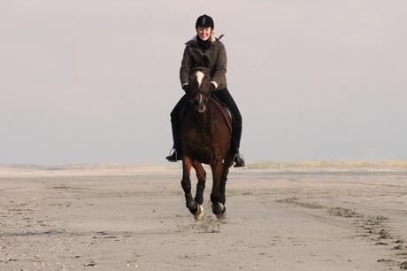Horse riding on the beach 4