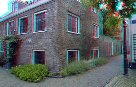 Goudsmidspleintje Haarlem 3D - Goudsmidspleintje Haarlem 3D - foto door hoppenbrouwers op 13-07-2020 - deze foto bevat: haarlem, 3d, anaglyph, stereo, d7000, red-cyan, 12/24, cha/cha, goudsmidspleintje