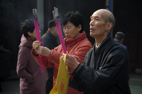 Boeddha tempel Shanghai