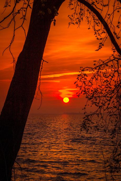 zonsopkomst aan de Gouwzee