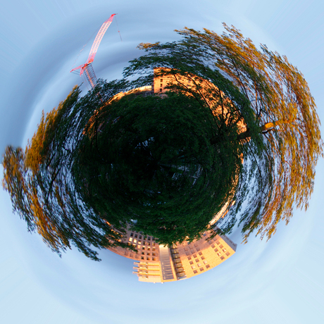Bouwplaats op de Little Planet