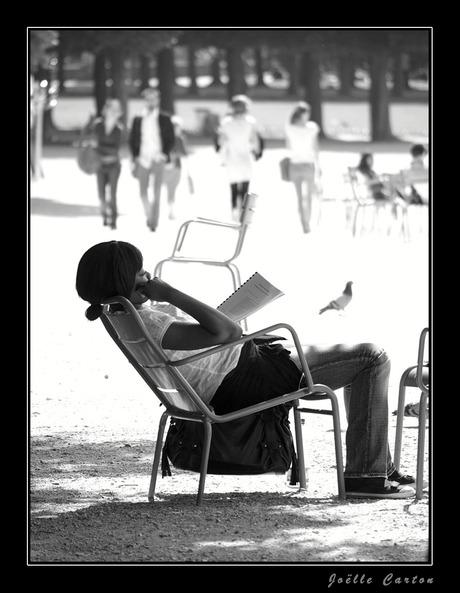 al genietend studeren...