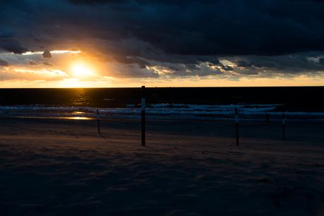 Zonsondergang op een septemberavond