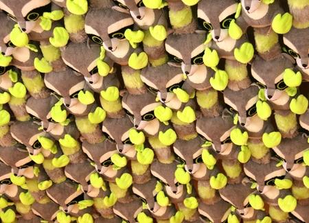 Knuffelberen - Gemaakt in de Efteling. Deze hingen aan het plafond van een schiettentje. - foto door Arnovanalebeek op 14-10-2012 - deze foto bevat: herhaling, plafond, beer, knuffel, teddybeer, knuffelbeer