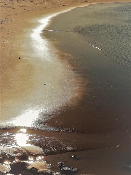 zonlicht op de waterlijn
