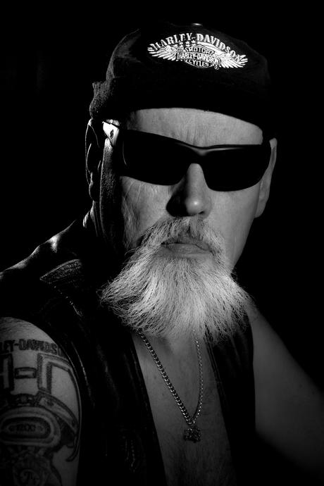 Harley Davidson man.