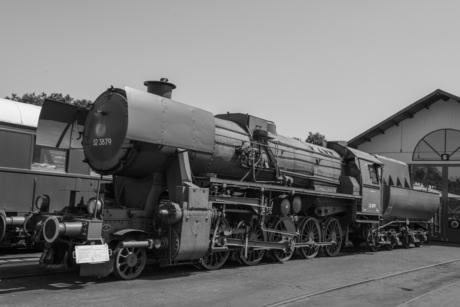 De 52 3879 locomotief bij de VSM