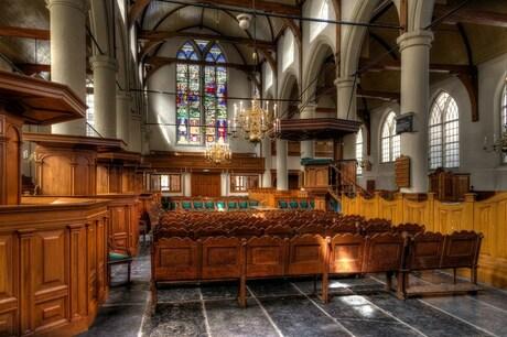 HDR Waalse kerk in Amsterdam