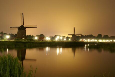 molens bij nacht