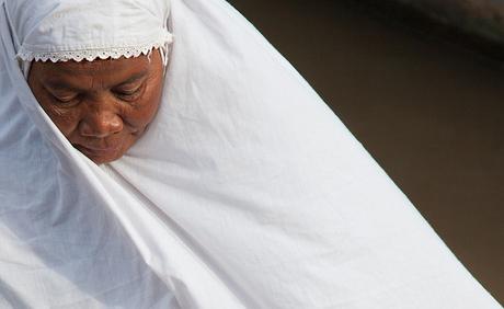 Woman White Clothes