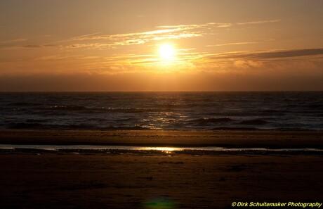 Zonsondergang Katwijk 13-4-2010