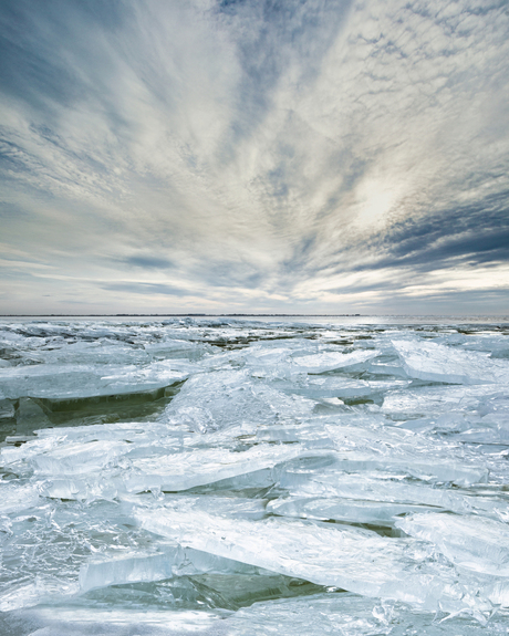 Kruiend ijs, IJsselmeer