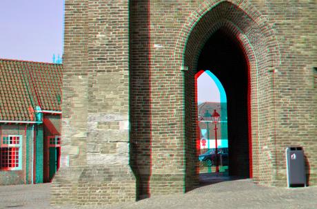 Stadstoren Oudewater 3D anaglyph