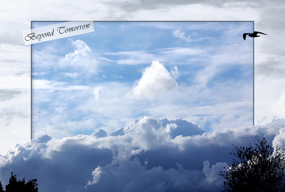 Beyond Tomorrow - Mijn wens is soms om even boven alle verplichtingen, drukte en zorgen uit te stijgen. Even m'n voeten van de grond en de rust opzoeken boven de wolke - foto door daniel44 op 25-08-2008 - deze foto bevat: lucht, wolken, blauw, boven, 3d, daniel44, tomorrow, beyond